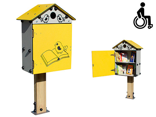 INCLUSIVO. NIDO DE LIBROS (little free library)